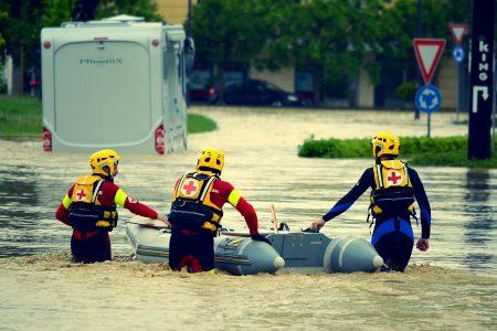 Alluvione Area Emergenza Croce Rossa Italiana Comitato di Stradella Pavia