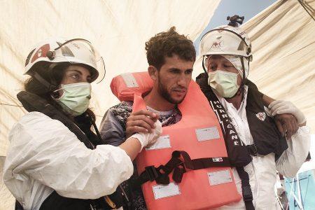 Migranti Area Emergenza Croce Rossa Italiana Comitato di Stradella Pavia